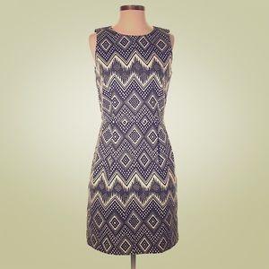 J Crew Geometric Print Dress